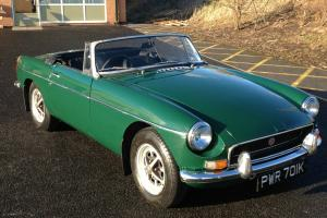 MGB Roadster, 1972, Chrome Bumpers, Tax Exempt, Overdrive, BRG