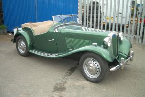 MG TD Roadster Classic Car, Right Hand Drive from New