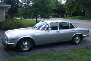 RARE 1978 Jacquar XL J12 4 door silver with red leather interior 51,219 mileage