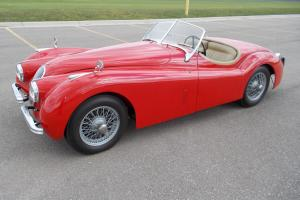 1953 Jaguar XK120 OTS with 3.8 ltr, Red with tan leather interior