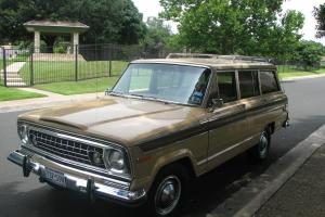 1977 Jeep Wagoneer, a classic, 401 V8, one owner, no wrecks, 82,778 miles