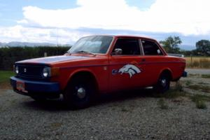 1974 Volvo model 142 two door sedan Denver Broncos custom