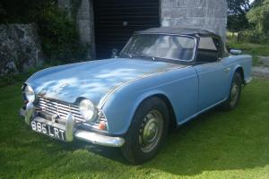 1962 triumph tr4 ,genuine uk rhd car ,one previous owner