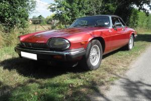 1991 JAGUAR XJ-S CONVERTIBLE AUTO RED