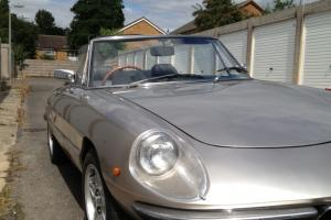 Alfa Romeo S2 Kamm tail Spider 1972 rare silver 55k great condition tax exempt