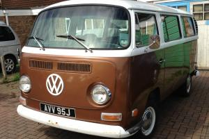 VW campervan, 1971 baywindow camper, rust free nevada import, tax exempt, mot