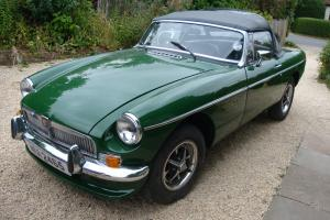 1980 MG B ROADSTER GREEN - CHROME GRILL/BUMPERS