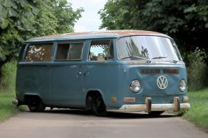 Volkswagen Camper van, 1972 baywindow riveria T2 VW slammed and narrowed classic