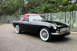 MGB Roadster - Black- Restored - Wire Wheels  Photo