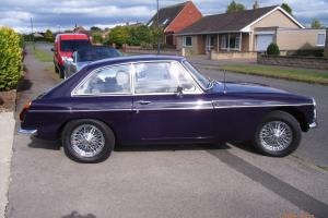 Classic black tulip MGB GT 2.0, chrome spoked wheels, tax exempt