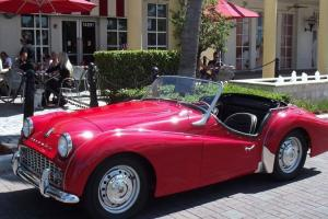 1959 TRIUMPH TR3. RED WITH BLACK INTERIOR. RESTORED CAR IN SUPERB CONDITION!!! Photo