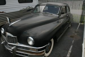 RARE UNRESTORED 1948 BLACK PACKARD CUSTOM EIGHT TOURING SEDAN MUST SELL OFFERS!!