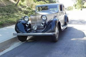 1935 Rolls Royce Silver over Black 4 Door Vanden Plas Body Photo