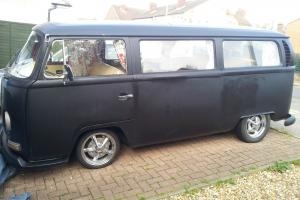 1970 VW camper. Satin black Mot til July.14. Ready to go.