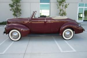 1940 Ford Deluxe Convertible Older Restoration with Columbia 2 speed rear end
