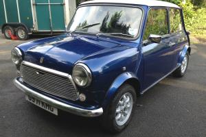 1990 ROVER MINI 1000 CITY E BLUE/WHITE COOPER SPEC