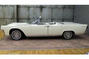 1963 Lincoln Continental Convertible SUICIDE DOORS WHITE ON WHITE LOW MILES