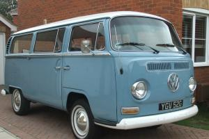 1969 VW Early Bay Microbus LHD Cal import with original wind back sunroof