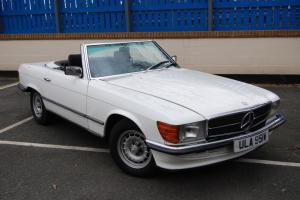 MERCEDES 380 SL Auto, New blue upholstery, Good Hood, Electrics, History File