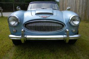 1963 AUSTIN HEALEY 3000 MK2 BJ7 ... TRIPLE  BLUE ... CHROME WIRE WHEELS .. OD !