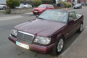 1996 MERCEDES E220 CABRIOLET RUBY RED