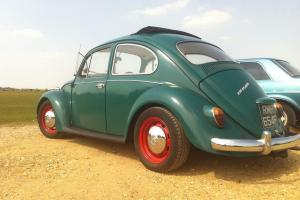 Classic 1967 VW Beetle, Java Green with Ragtop