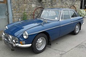 MGB GT, 1966 In mineral Blue.