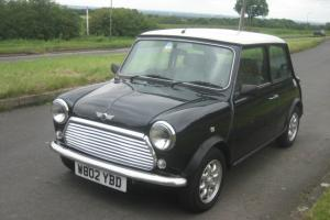 2000 W ROVER MINI COOPER CHARCOAL / WHITE. CLASSIC 43,000 MILES AIR CONDITIONED  Photo