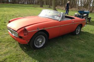 1963 MGB ROADSTER, Restoration project, unwelded original panels.