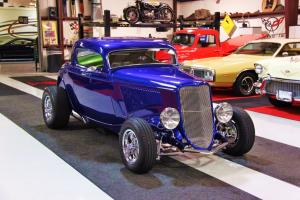 1933 Ford Three Window Coupe,  Excellent Condition and Loaded with Chrome