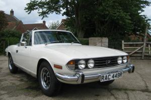 1976 TRIUMPH STAG WHITE 3.0 V8 MANUAL