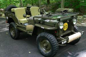 1952 WILLYS M38 JEEP - KOREAN WAR ARMY MILITARY VEHICLE  FULLY RESTORED