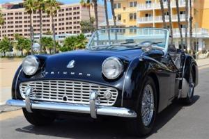 60 TR3 A, Black/Black. Restored, chrome wires and overdrive. superb example Photo