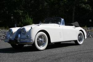 1960 White XK150 DHC, Chrome Wires, Restored, 3.8, 4-Speed/OD Matching Numbers Photo