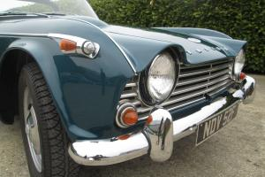 Triumph TR4A..IRS..1967..Valencia Blue with Surrey Hardtop...MUST be viewed.