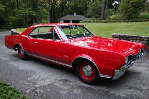 1967 OLDS 442 SURVIVER CAR,FACTORY RED CAR ,BLACK BUCKET SEATS,78,000 MILES