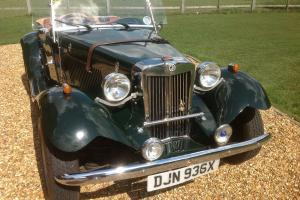 MG TD factory built replica by CLASSIC CARRIAGES, USA. Only 7812 miles from new