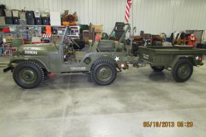 WILLYS M38 A1 MILITARY JEEP 1953 WITH MATCHING TRAILER RESTORED EXCELLENT