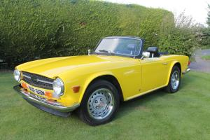 Triumph TR6, Mimosa Yellow, Full Leather, Low Millage, Long T