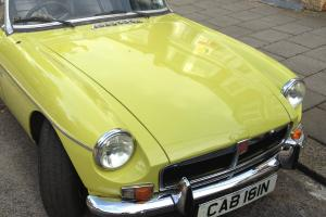 1974 MG B Roadster in excellent condition