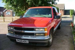 1996 CHEVROLET GMC RED/SILVER