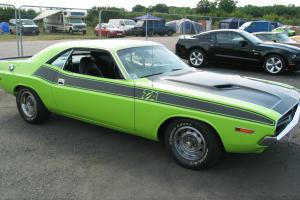 1974 DODGE CHALLENGER - SUB LIME GREEN.1971 CLONE
