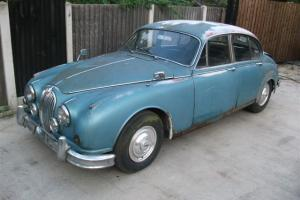JAGUAR MK2,mkll,1962 3.8 MANUAL O/D,1 PREVIOUS OWNER FOR RESTORATION,BARN FIND  Photo