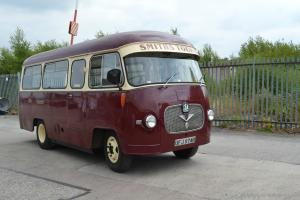 vintage Bedford Duple 20 seater Bus. Goodwood revival transport. classic bus