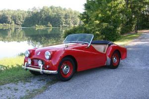 Restored 1955 Triumph TR2 Signal Red w/ Tan Interior 2 Time VTR Concours Winner