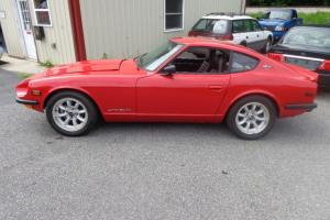1971 DATSUN 240Z RACE CAR, RED IN COLOR, 5 SPEED, 280ZX ENGINE IN-LINE 6