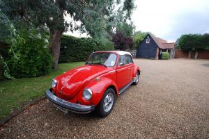 1979 VOLKSWAGEN SUPER BEETLE RED LHD