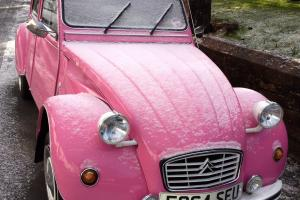 PINK 1989 2 CV newly restored, new galvanised chassis MOT July 13 Taxed July 13