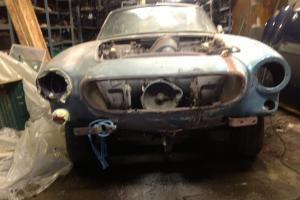 VOLVO P1800 S WHITE restoration project, 1963 Jensen built rarest model