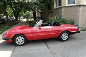 1988 Alfa Romeo Spyder,Veloce Wheels,Air Condionnd, Low Miles, Low Reserve!!